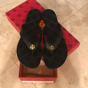 "Tory Burch Monroe black ""brand new"" sandals."